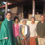 Fr Truc Quoc Phan SVD with parishioners in Thailand 150
